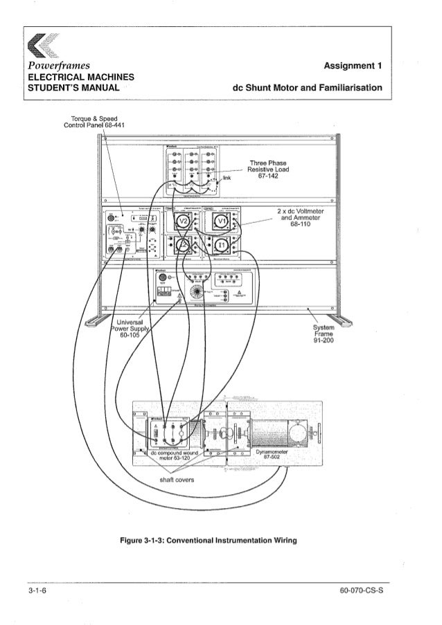FeedBack Powerframes Electrical Machines Student's Manual