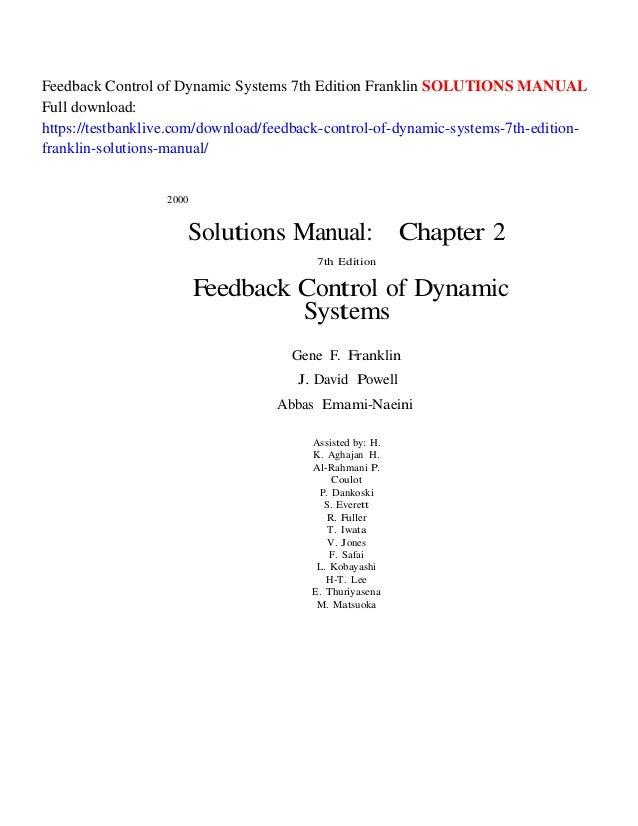 Systems pdf franklin control dynamic digital of