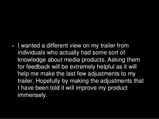 Feedback from media students Slide 2