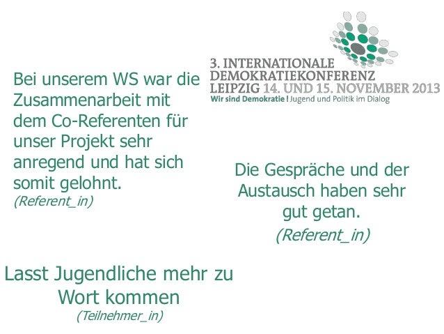 Bei unserem WS war die Zusammenarbeit mit dem Co-Referenten für unser Projekt sehr anregend und hat sich somit gelohnt. (R...