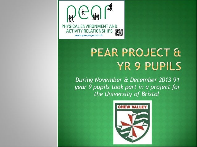 During November & December 2013 91 year 9 pupils took part in a project for the University of Bristol