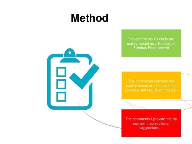 Method The comments I provide are mainly meant as .. Feedback, Feedup, Feedforward The comments I provide are mainly aimed...