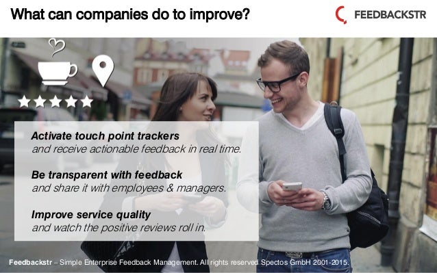 Feedbackstr – Simple Enterprise Feedback Management. All rights reserved Spectos GmbH 2001-2015. What can companies do to ...