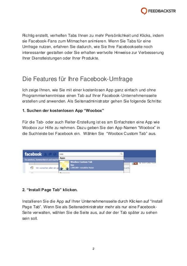 Der Umfrage-Tab auf Facebook Slide 2
