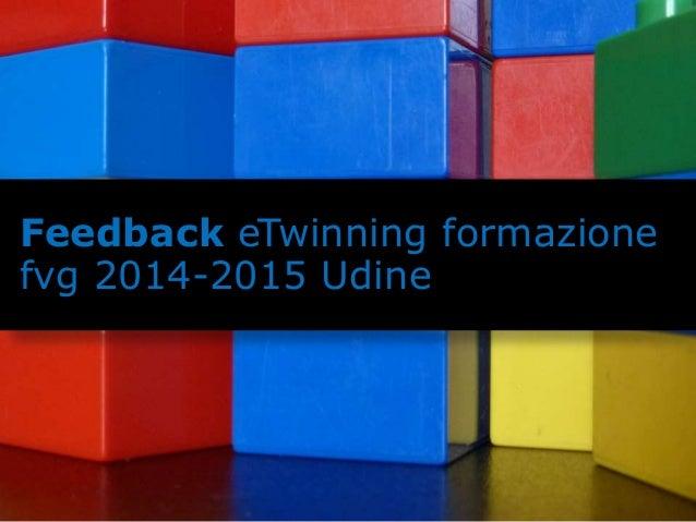 Feedback eTwinning formazione  fvg 2014-2015 Udine