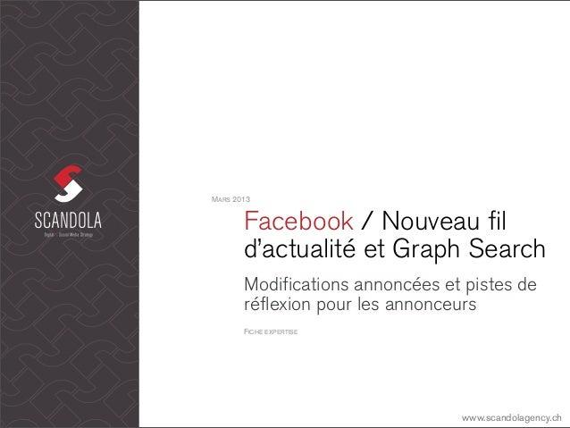 MARS 2013       Facebook / Nouveau fil       d'actualité et Graph Search       Modifications annoncées et pistes de       ...