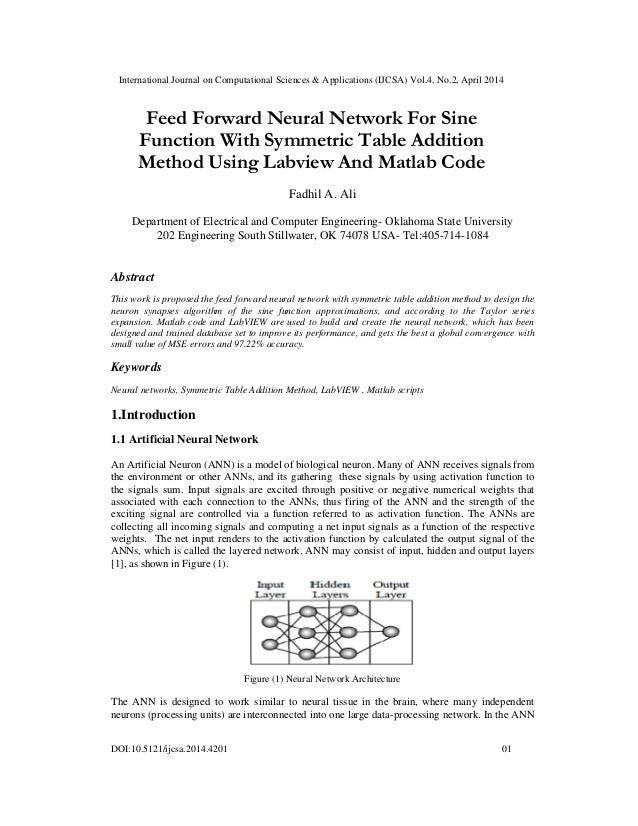 International Journal on Computational Sciences & Applications (IJCSA) Vol.4, No.2, April 2014 DOI:10.5121/ijcsa.2014.4201...
