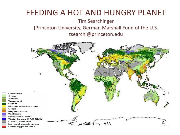 FEEDING A HOT AND HUNGRY PLANET<br />Tim Searchinger<br />(Princeton University, German Marshall Fund of the U.S.<br />tse...