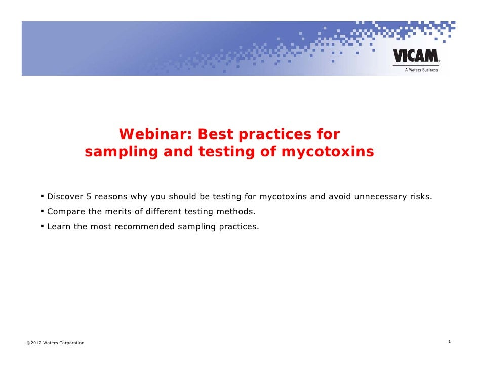 Webinar: Best practices for                           sampling and testing of mycotoxins      Discover 5 reasons why you ...