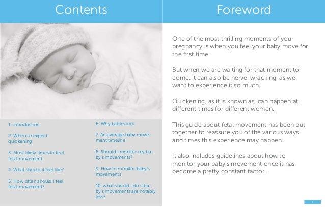 Feeling your baby kick: a fetal movement guide