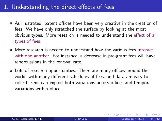 2. Using changes in fees as exogenous shocks Some of the biggest questions related to the patent system concern innovation...