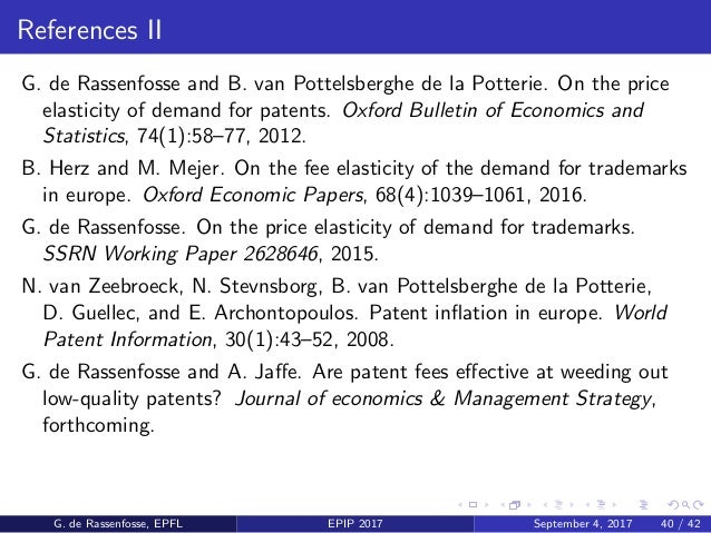 References III J. Lanjouw and M. Schankerman. Patent quality and research productivity: Measuring innovation with multiple...