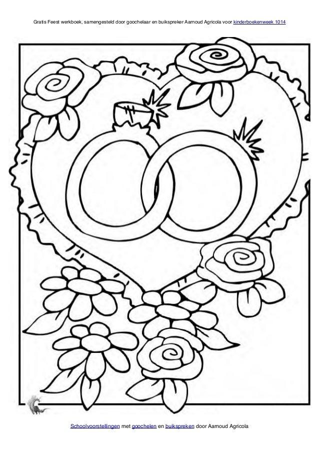 1000 images about kleurplaten bruiloft on