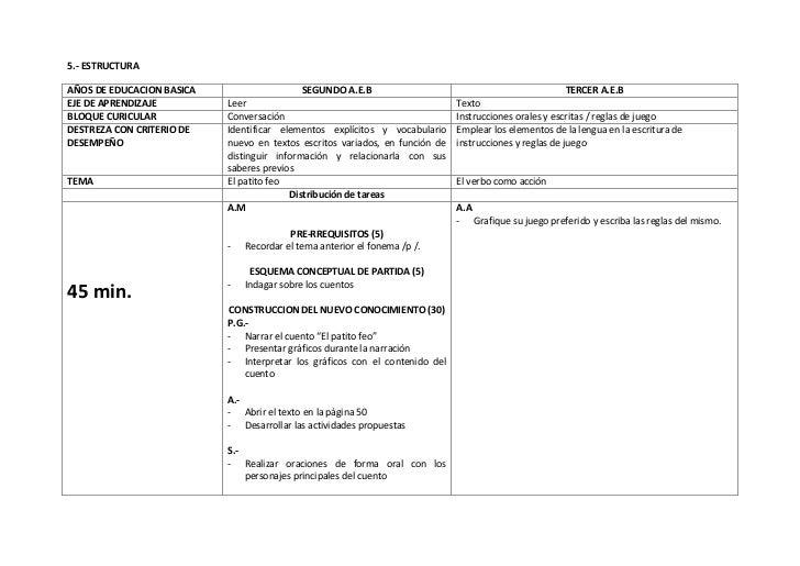 5.- ESTRUCTURAAÑOS DE EDUCACION BASICA                    SEGUNDO A.E.B                                              TERCE...