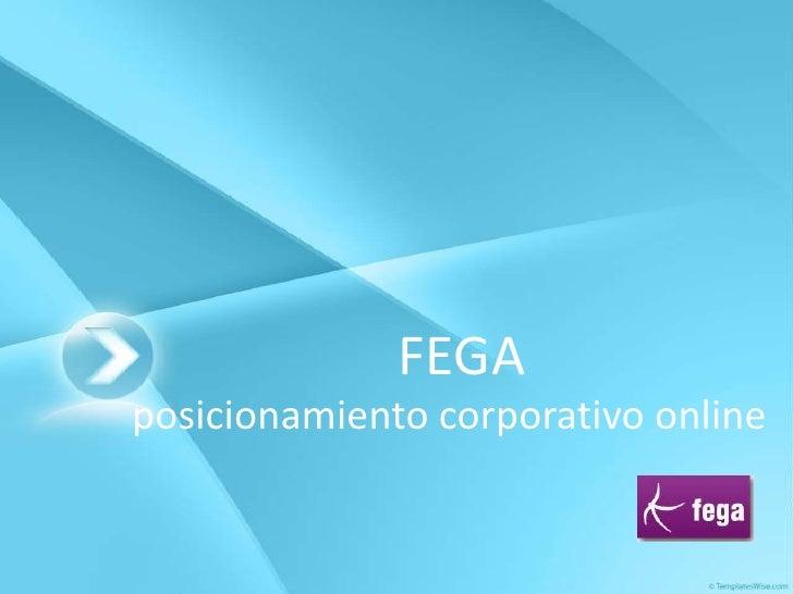 FEGA<br />posicionamientocorporativo online<br />