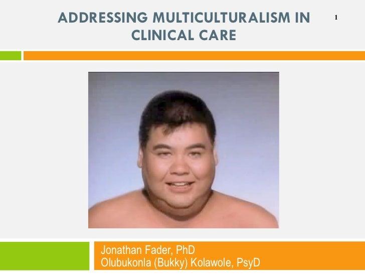 ADDRESSING MULTICULTURALISM IN CLINICAL CARE Jonathan Fader, PhD  Olubukonla (Bukky) Kolawole, PsyD