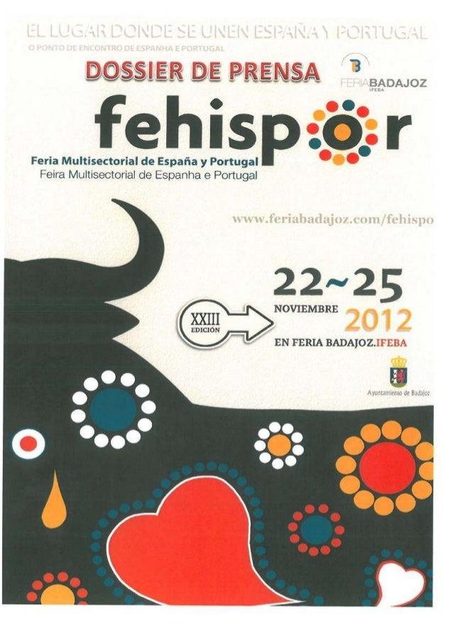 Dossier de prensa Fehispor 2012