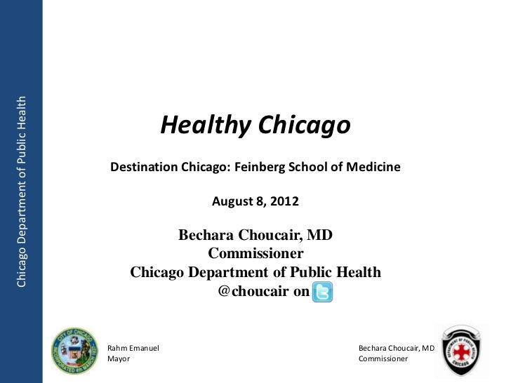 Chicago Department of Public Health                                                     Healthy Chicago                   ...