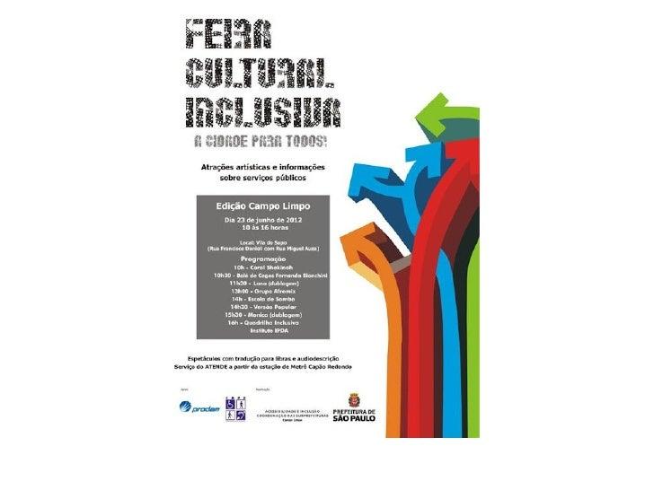 Feira cultural inclusiva edição campo limpo