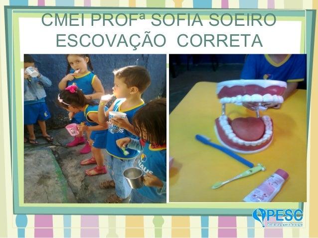 CMEI PROFª SOFIA SOEIRO ESCOVAÇÃO CORRETA