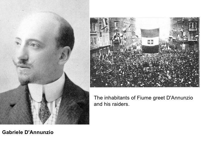 The inhabitants of Fiume greet D'Annunzio and his raiders.  Gabriele D'Annunzio