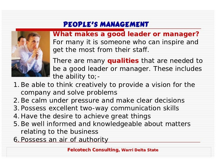 on what makes a great leader and manager