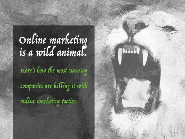 Here's how the most cunning companies are killing it with online marketing tactics. Online marketing is a wild animal.
