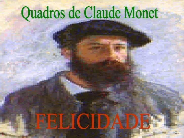 Quadros de Claude Monet FELICIDADE