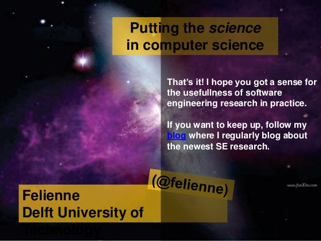 Putting the science in computer science