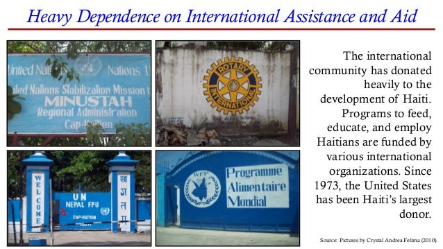 The international community has donated heavily to the development of Haiti. Programs to feed, educate, and employ Haitian...