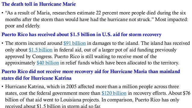 """The death toll in Hurricane Marie • """"As a result of Maria, researchers estimate 22 percent more people died during the six..."""
