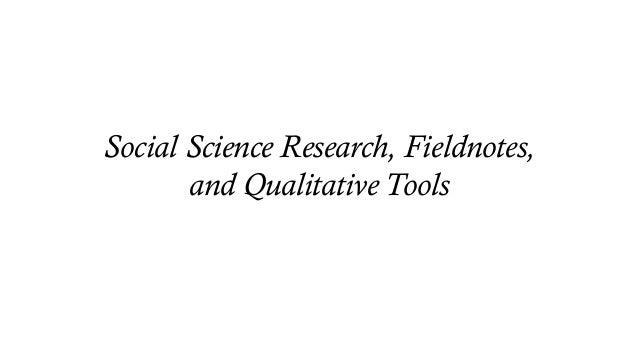 Applied Field Methods • Community Based Participatory Research (CBPR) • Participatory Rural Appraisal (PRA) • Rapid Ethnog...