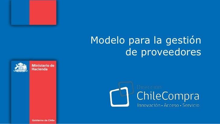 Modelo para la gestión de proveedores<br />