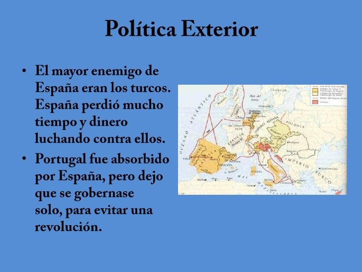 Felipe ii de espa a for Politica exterior de espana