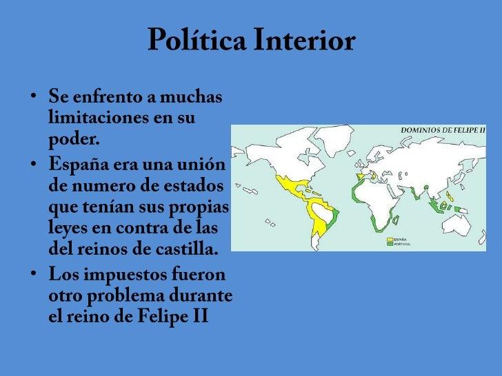 Felipe ii de espa a for La politica exterior de espana