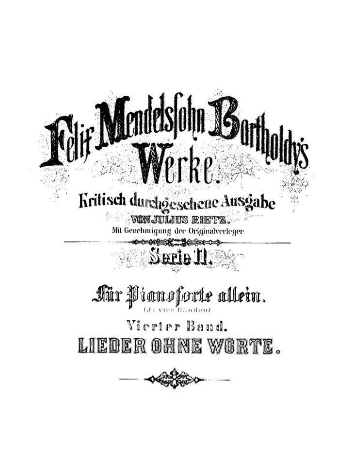 Felix mendelssohn   romances sans paroles - 8 opus - version i
