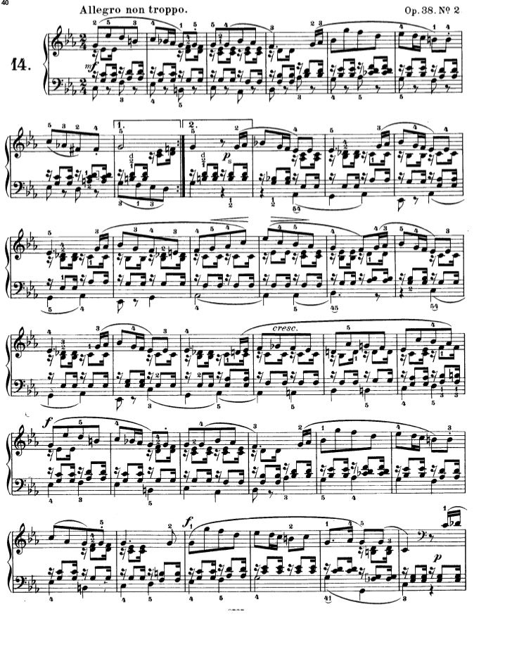 Felix Mendelssohn Romances Sans Paroles 8 Opus Version Ii