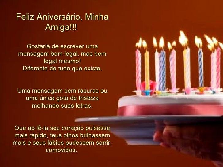 Mensagem Aniversario Amiga: Feliz Aniversario Amiga