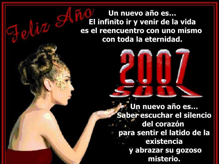Un nuevo año es… El infinito ir y venir de la vida es el reencuentro con uno mismo  con toda la eternidad. Un nuevo año es...