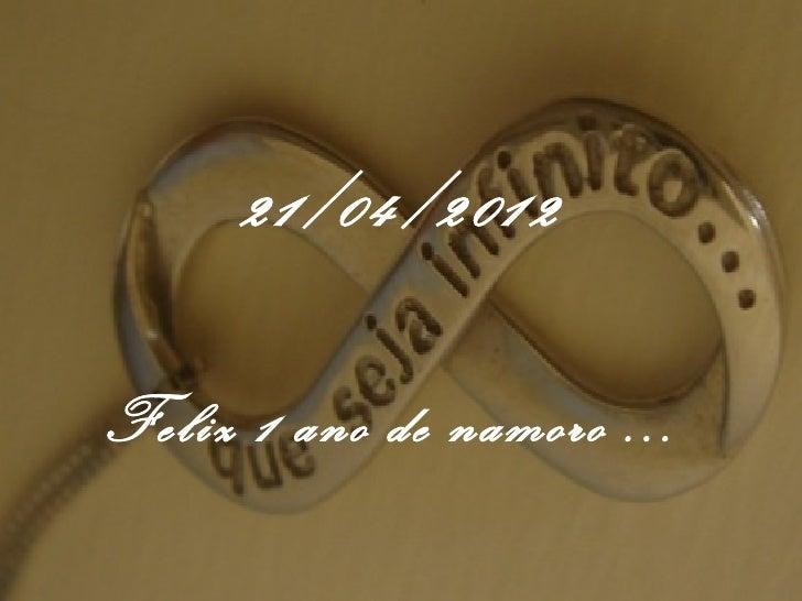 Feliz 1 Ano De Namoro Te Amo