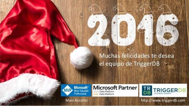 Muchas felicidades te desea el equipo de TriggerDB Maxi Accotto http://www.triggerdb.com