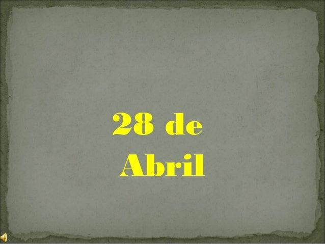 28 deAbril