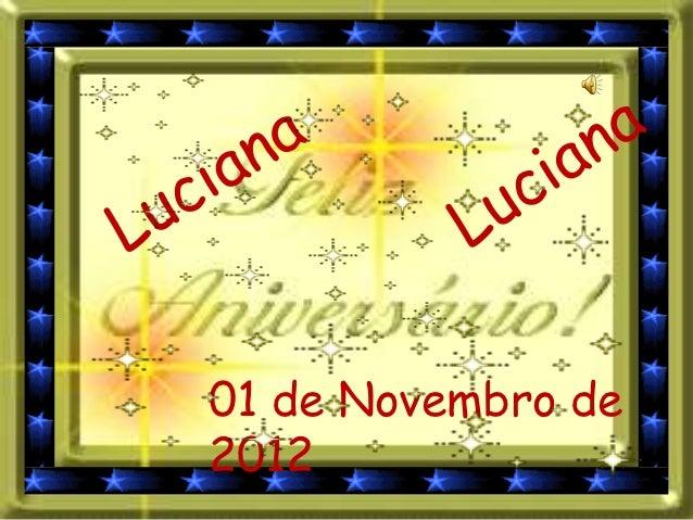 01 de Novembro de2012