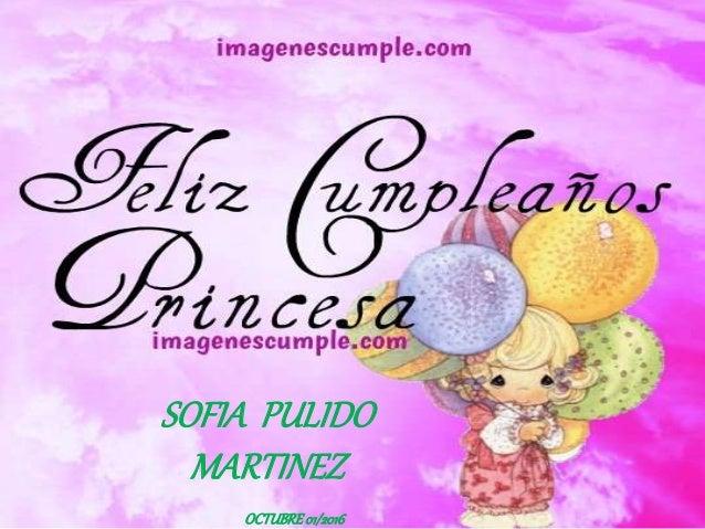 Feliz cumpleanos princesa andrea