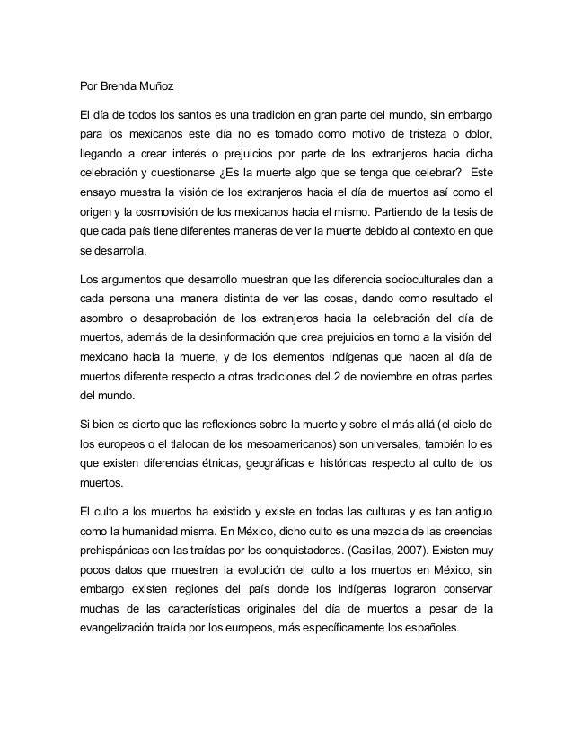 Por Brenda MuñozEl día de todos los santos es una tradición en gran parte del mundo, sin embargopara los mexicanos este dí...