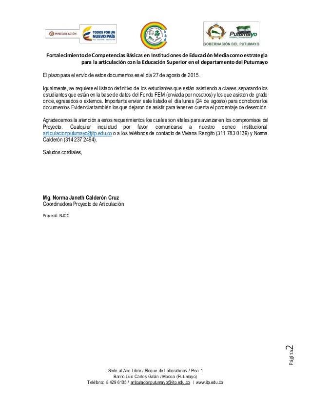 Fem 006 solicitud documentos de matrícula estudiantes