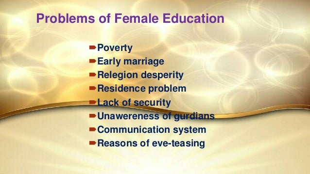 Female Education Presented by Zarin Tasnim Anika