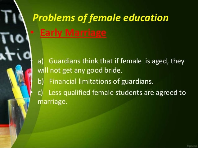 Female education presentation ready