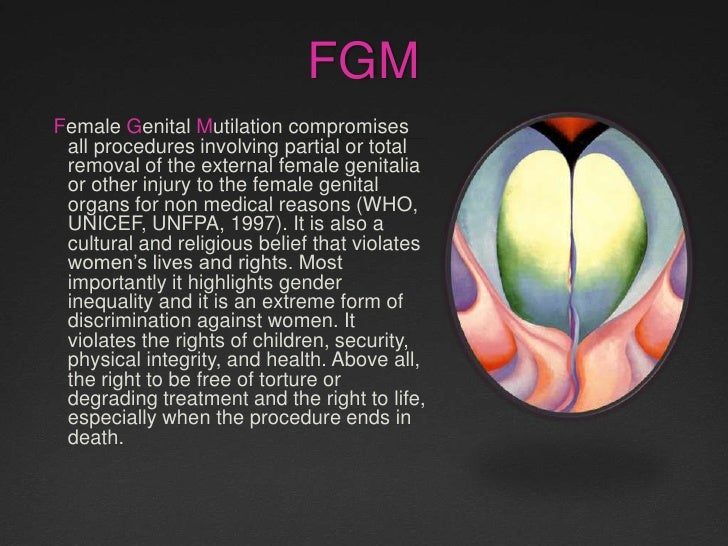 theories on female genital mutilation Female genital mutilationcultural evolution and the mutilation of women the  consequences of fgm for a woman's reproductive output.