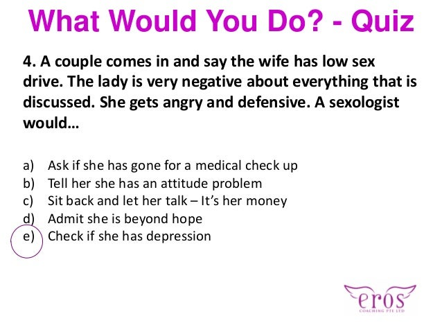 Sexual preference quiz for couples